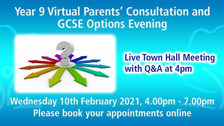 Year 9 Virtual Parents and Options Evening